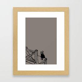 Inner peace - Soot color Framed Art Print