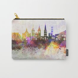 Aarhus skyline in watercolor background Carry-All Pouch