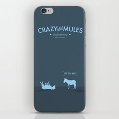 Crazy old Mule / I See Dead Mule iPhone & iPod Skin