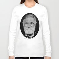 robin williams Long Sleeve T-shirts featuring Robin Williams by Svartrev