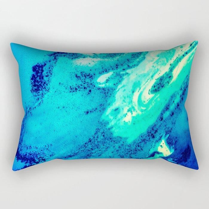 Abstract Blue Pattern Rectangular Pillow