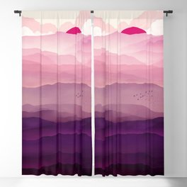 Ultra Violet Day Blackout Curtain