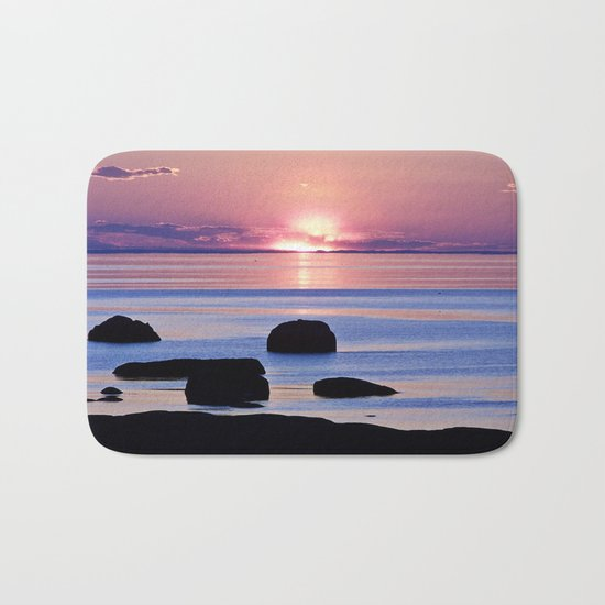 Saint-Lawrence River Sunset Bath Mat