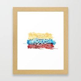 Te amo-Me amas Venezuela Framed Art Print