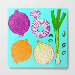 Onions Make You Cry by Keyton Design Metal Print