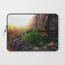 'Sun Awakening Sleeping Daffodils' Laptop Sleeve