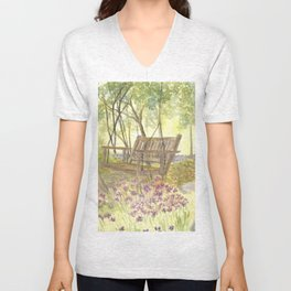 Bedrock Garden Spring on In and Out Pathway Unisex V-Neck