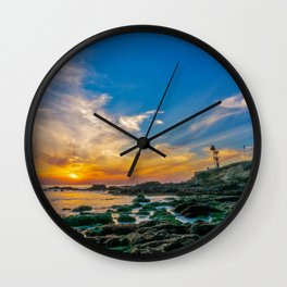 Low Tide Laguna Sunset Wall Clock