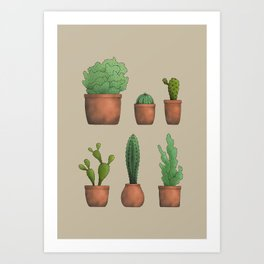 Cactos Art Print