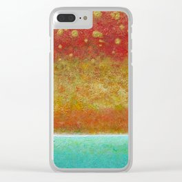 Pearl Sunset Clear iPhone Case