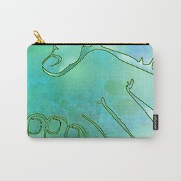 Cargiver Hands Blue and Green Harmony Carry-All Pouch
