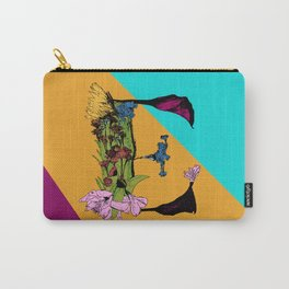 Come On Eileen, Floral Letter E Carry-All Pouch