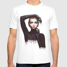 The Girl 3 White MEDIUM Mens Fitted Tee