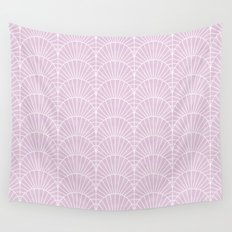 Art Deco Lavender Fields by Friztin Wall Tapestry