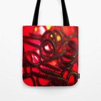 hook Tote Bags featuring Hook Eye by Gary Lee Hutchings