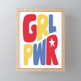 GRL PWR Star Framed Mini Art Print