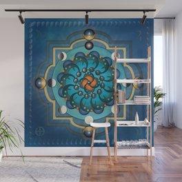Mandala Moon Phases Wall Mural