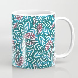 I don't need to improve - Turquoise and pink Coffee Mug