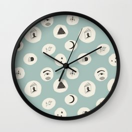 Bewitched Seafoam Green Pattern (Small) Wall Clock