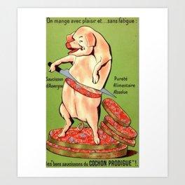 excusez mon porc Art Print