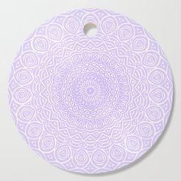 Purple Violet Mandala Design Extra Detailed Geometric Ethnic Tribal Pattern Cutting Board