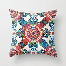 Vibrant Pattern Art - Color Fusion Design 4 By Sharon Cummings Throw Pillow