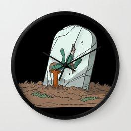 Zombie hand grave headstone Wall Clock