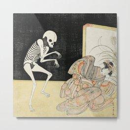 Skeleton Japanese Print, Katsukawa Shunsho, 1783 Metal Print