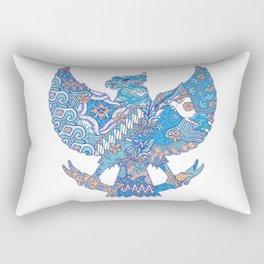 batik culture on garuda silhouette illustration Rectangular Pillow