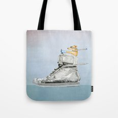 Dog Driving a Shoe Tote Bag