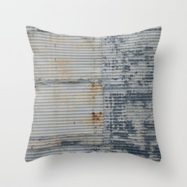 Warehouse District -- Rustic Industrial Farm Chic Abstract Throw Pillow