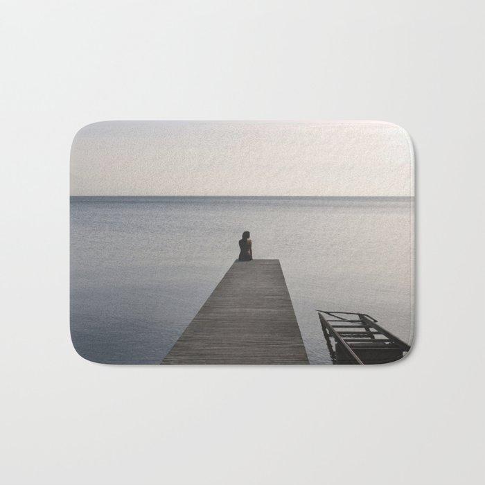Mermaid at Sunset - Landscape Photography Bath Mat