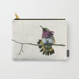 Hummingbird on a branch Carry-All Pouch