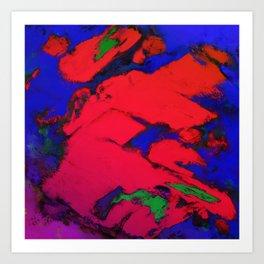 Red erosion Art Print