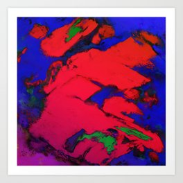 Red erosion Art Print