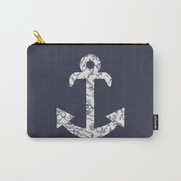 Marble Anchor in Navy Carry-All Pouch