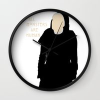 ahs Wall Clocks featuring All Monsters Are Human - Sister Jude - AHS: Asylum by Hrern1313