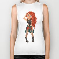 merida Biker Tanks featuring Modern AU: Merida by Anoosha Syed