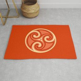 Celtic Triskele Ornament, Mandarin Orange Rug
