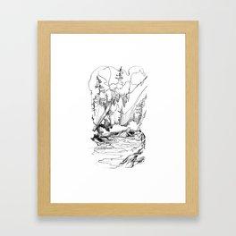 Drawing the Line Framed Art Print
