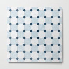 Sky Blue Classic Floor Tile Texture Metal Print