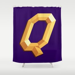 The Queen Logo Shower Curtain