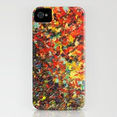 END OF THE RAINBOW - Bold Multicolor Abstract Colorful Nature Inspired Sunrise Sunset Ocean Theme Slim Case iPhone (4, 4s)