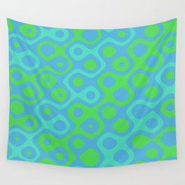 Brain Coral Green Banded - Coral Ree Series 020 Wall Tapestry