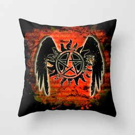 Saving People, Hunting Things Throw Pillow