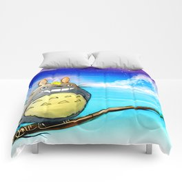 A Dream About Totoro Comforters