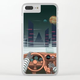 Night driver Clear iPhone Case