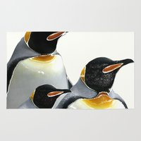 penguins Area & Throw Rugs featuring Penguins by Regan's World