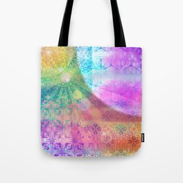Moon and Sun having a shine out Tote Bag