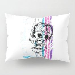 Deathly Chucky's Girl - Creepy Doll Pillow Sham
